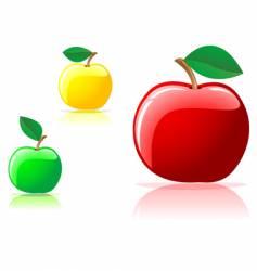 Appetizing apples vector