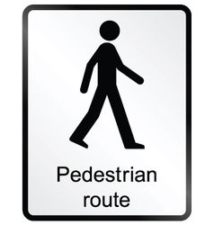 Pedestrian route information sign vector