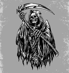 Hand inked grim reaper vector