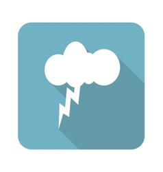 Square thunderstorm icon vector