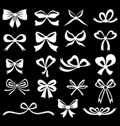Bow set white vector