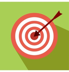 Nice darts icon with green background vector