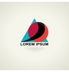 Conceptual triangle icon template logo vector