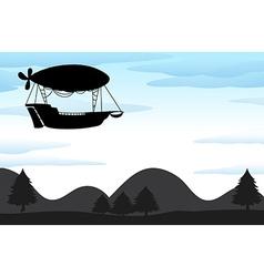 Silhouette balloon vector