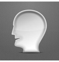3d white head person concept vector