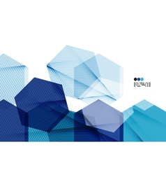 Bright blue geometric modern design template vector