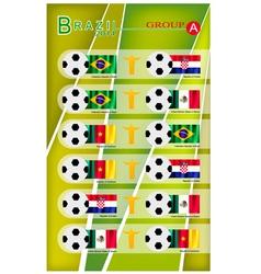 Football tournament of brazil 2014 group a vector