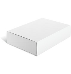 Realistic white package carton box for software vector