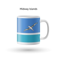 Midway islands flag souvenir mug on white vector