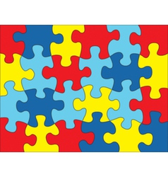 Autism puzzle background vector
