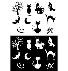 Halloween silhouettes vector