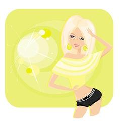 Sexy disco girl poster vector
