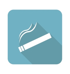 Square burning cigarette icon vector
