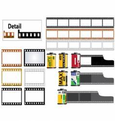 35mm film set vector