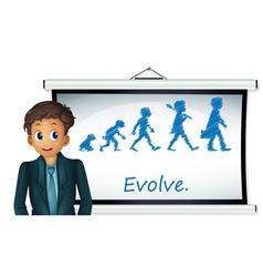 Evolution chart vector
