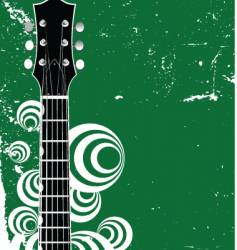 Guitar background vector
