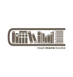 Books market icon vector