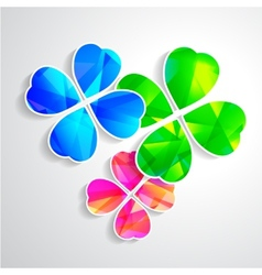 Four-leaf clover for luck happiness green three vector