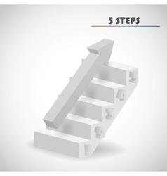 Arrow and staircase vector