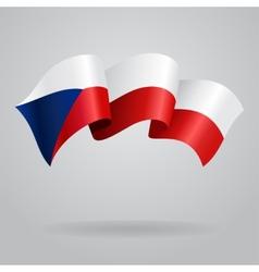 Czech waving flag vector