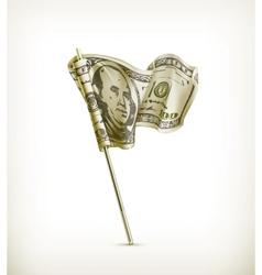 Dollar flag vector