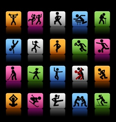Set of 20 sport icons vector