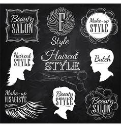 Beauty salon chalk vector