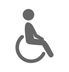 Disability man pictogram flat icon isolated on vector