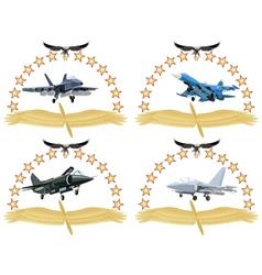 Modern military aircraft-1 vector