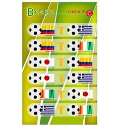 Football tournament of brazil 2014 group c vector