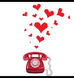 Phone receiver and heart vector