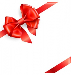Red bow isolated on white vector