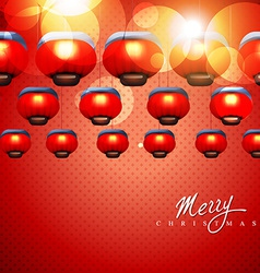 Glowing christmas lamps vector