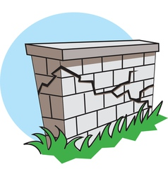 Earthquake wall vector