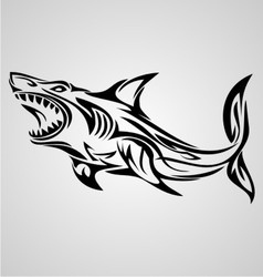 Shark tribal vector