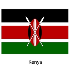 Flag of the country kenya vector
