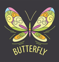 Logo color of the butterfly patterns vector
