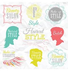 Beauty salon color vector