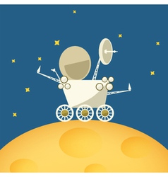 Planet rover on the moon vector