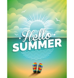 Summer holiday on seascape background vector