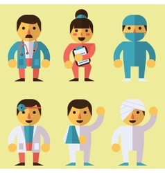 Doctors surgeon nurse patients vector