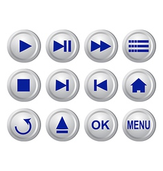 Collection of buttons vector