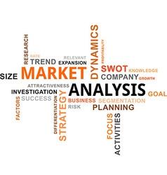 Word cloud market analysis vector