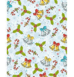 Wrapping paper with christmas elements vector