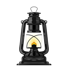Old kerosene lamp eps10 vector