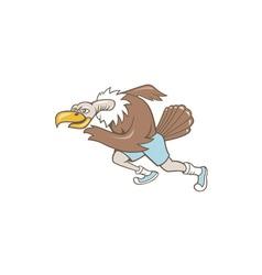 Vulture buzzard runner running cartoon vector