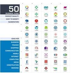 Set of logo design elements vector