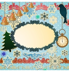 Scrapbooking luxury set for christmas vector