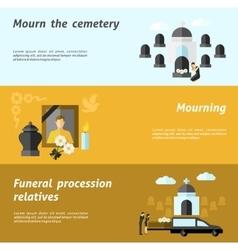 Funeral banner set vector