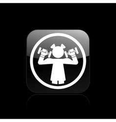 Woman gym icon vector